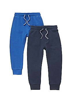F&F 2 Pack of Joggers - Blue & Navy