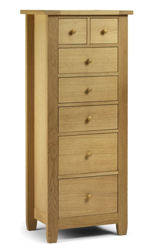 Julian Bowen Lyndhurst 7 Drawer Tallboy Chest