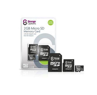 Storage Options 2GB MicroSD Memory Card