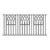 Modern Metal Fencing Panel 183cm GAP x 81cm High Wrought Iron Style