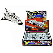 "X Planes Airforce 6"" Metal Die Cast Space Shuttle"