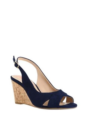 F&F Sensitive Sole Slingback Wedges Blue Adult 3
