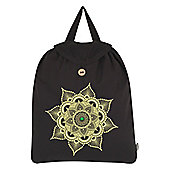 Emerald Mandala Festival Black Backpack 35x41cm