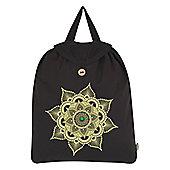 Emerald Mandala Festival Black Backpack 35x41cm