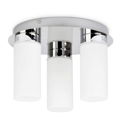 Roosevelt IP44 3 Way Bathroom Ceiling Light Chrome