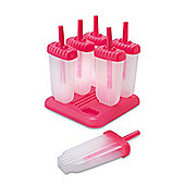 Eddingtons Fab Ice Lolly Mould Set of 6 Pink