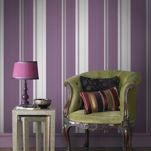 Superfresco Easy Paste The Wall Gradient Stripe Purple Wallpaper