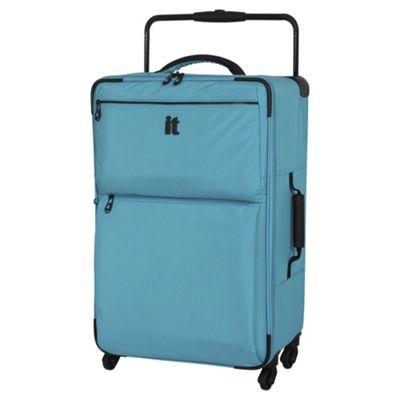 Buy IT Luggage World's Lightest 4 wheel Turquoise Check Medium ...