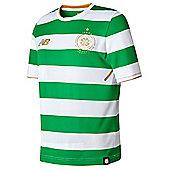 New Balance Celtic FC 2016/17 Kids Home Shirt White/Green - Extra Large Boys - Black