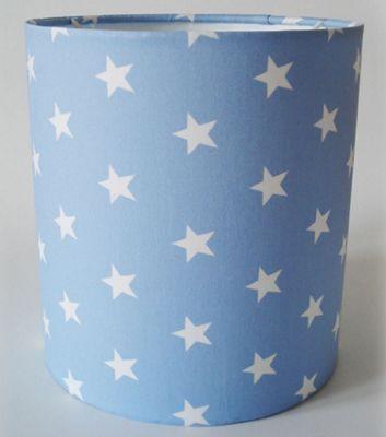 Pale Blue Star, Medium Fabric Lampshade / Lightshade