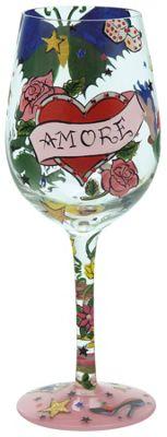 Lolita Wine Glass - Tattoo Amore