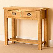 Lanner Oak Console Table - Rustic Oak