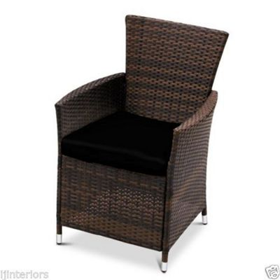 Gardenista Seat Pad for Rattan Patio Chair - Black