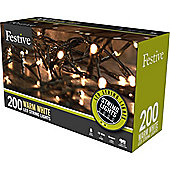 Multi-Function Warm White LED Christmas String Lights - 200 Bulbs