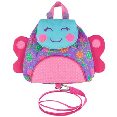 Toddler Backpack with Reins, Nursery Backpack With Reins - Butterfly