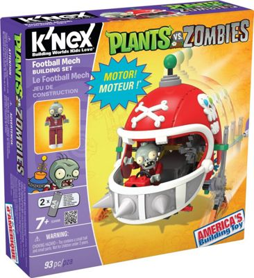 K'nex Plants Vs. Zombies Football Mech Building Set