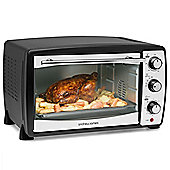 Andrew James Mini Oven & Grill - 1500w 20L Capacity 5 Cooking Functions - Black