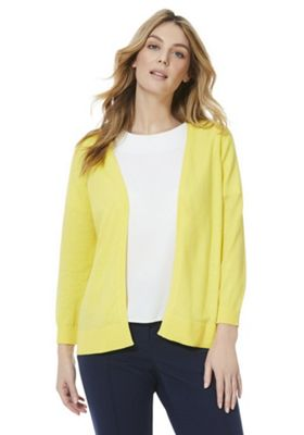 F&F Open Front Cardigan Yellow 18