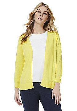 F&F Open Front Cardigan - Yellow