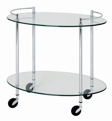 Urbane Designs Palazzo 63cm Trolley in Chrome