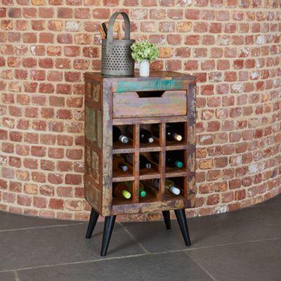 Coastal Chic Wine Rack Lamp Table - Lamp Table - Side Table