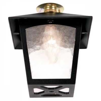 Black Flush Porch Lantern - 1 x 60W BC