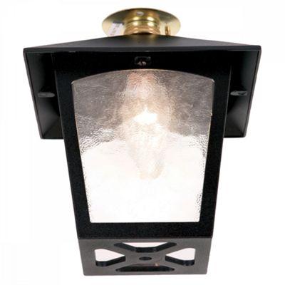 Black Flush Porch Lantern - 1 x 60W BC