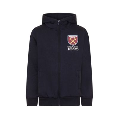 West Ham United FC Boys Zip Hoody Navy 8-9 Years MB