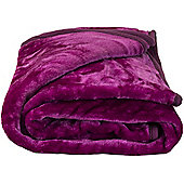 Faux Fur Purple Mink Throw Soft Warm Blanket 150 x 200cm
