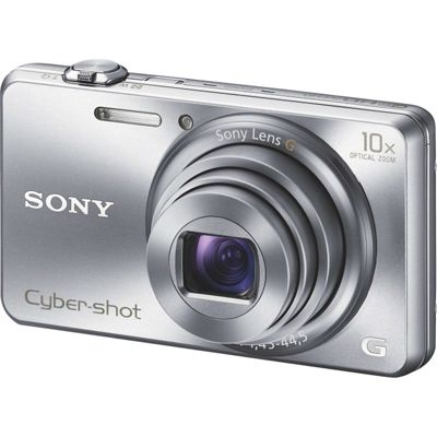 Sony DSC-WX200 Digital Camera, Silver, 18.2MP, 10x Optical Zoom, 2.7