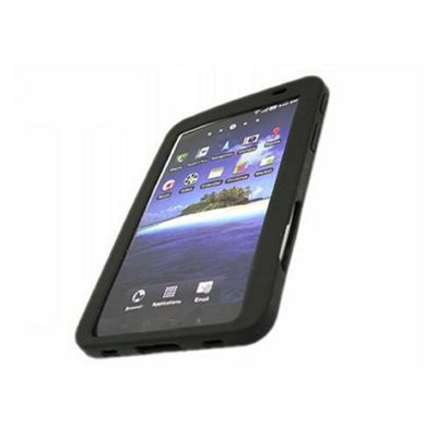 iTALKonline SoftSkin Silicone Case Black For - Samsung P1000 Galaxy Tab
