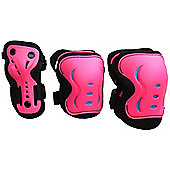 SFR Essentials Triple Pad Set - Pink / Black / Blue - Small (age 4 - 7)