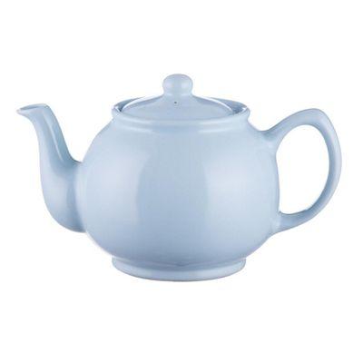 Pastel Blue Stoneware 6 Cup Teapot 1100ml from Price & Kensington