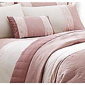 Catherine Lansfield Gatsby Pink Boudoir Cushion 30x50cm