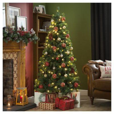 6ft Pre Lit Christmas Tree 150 White Leds