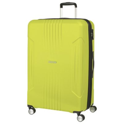 American Tourister Tracklite Large 8 Wheel Lime Suitcase
