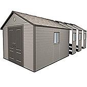 11ft x 26ft Duramax Plus Plastic 11x26 Apex Shed with Plastic Floor + 8 windows (3.37m x 7.93m) 11 x 26