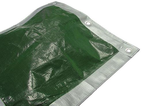 Faithfull TARP129 3. 6 x 2. 7m/ 12 x 9ft Tarpaulin - Green/ Silver