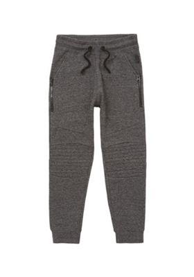F&F Marl Ripple Knee Cuffed Joggers Dark Grey XS (Adult)