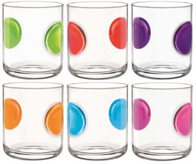 Bormioli Rocco Giove Water Tumbler Glasses - Set Of 6 - Multi Coloured - 310ml