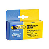 Tacwise 53 Light-Duty Staples 12mm (Type JT21, A) Pack 2000