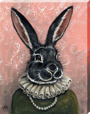 Louise Brown Lady Bunnikins Canvas Print 40 x 50 x 3.8cm