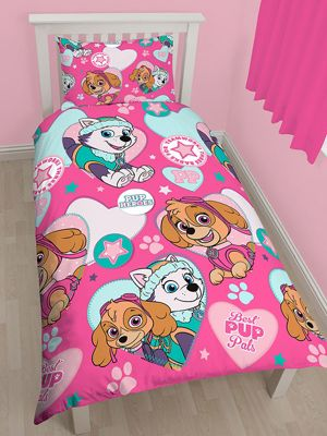 Paw Patrol Pals Skye and Everest Single Duvet Cover Set