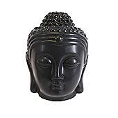 Black Buddha Head Ceramic Oil Burner