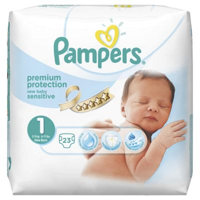 Pampers New Baby Sensitive Size 1 Carry Pack - 23 nappies