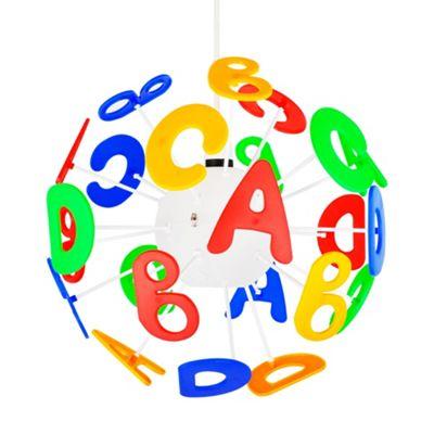 Children's 3D Letters Pendant Shade, Multi Coloured