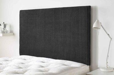 Aspire Furniture Lightmoor Headboard in Loumaire Corded Fabric - Black - Single 3ft
