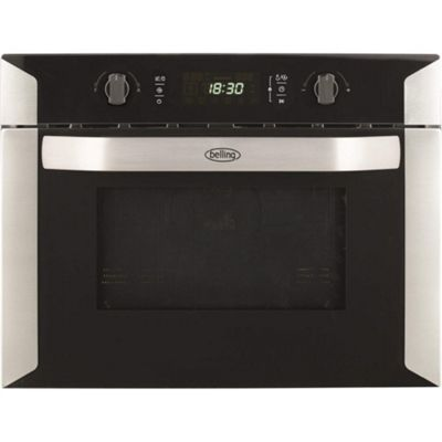 Belling BI60COMW Compact Stainless Steel Built-in Combination Microwave Oven