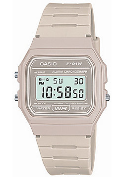 Casio Classic Unisex Chronograph Alarm Watch - F-91WC-8AEF