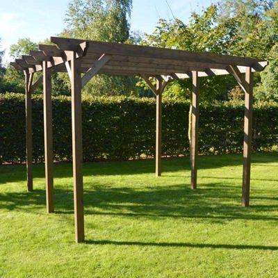 Garden Pergola 4.2m x 4.2m - Sculpted Rafter End